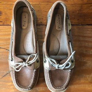 SPERRY Docksiders tan Leather shoes